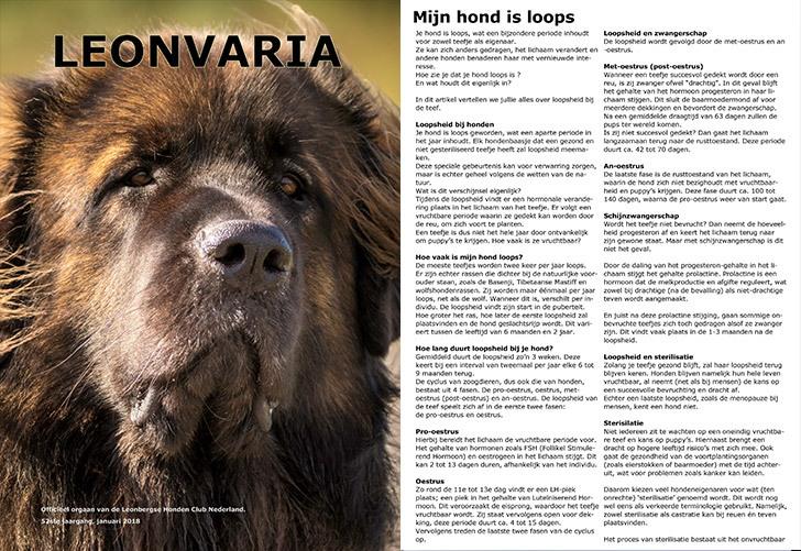 leonbergse honden club nederland leonvaria magazine